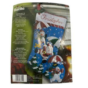 Bucilla 86325 Felt Christmas Stocking Kit 18""
